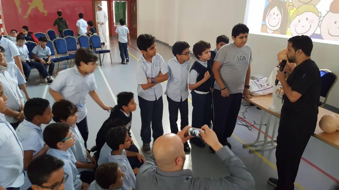 7d37fa8535db4 مستشفى الملك فهد بجدة يقيم يوماً توعوياً بالتعاون مع مدارس الأجيال المتطورة