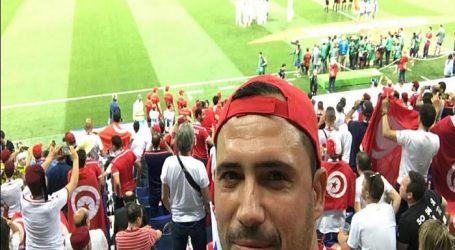 الفنان ظافر عابدين أحد المشجعين للفريق التونسي في روسيا